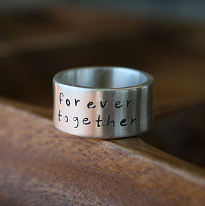 Personalised Between Us Mens Silver Ring - rings