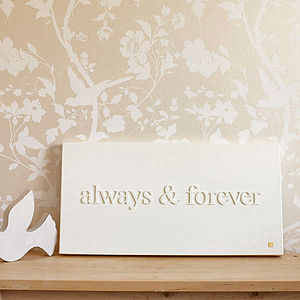 Personalised 'Always & Forever' Canvas