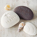 Personalised Name And Date Stone