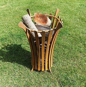Fluted Garden Brazier - fire pits & outdoor heating