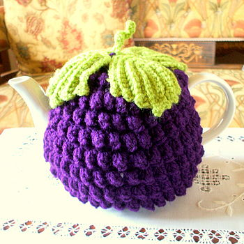 Handmade Blackberry Tea Cosy