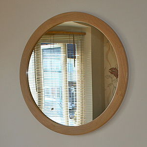 The Big Round Oak Mirror