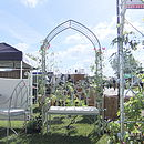 Galvanized Solid Steel Gothic Rose Arch
