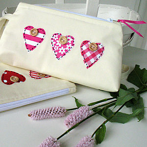 Hearts Make-Up Pouch - make-up bags