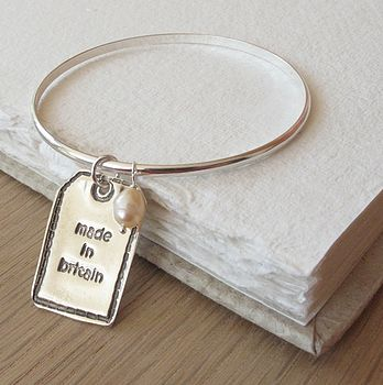 Designer label on bangle