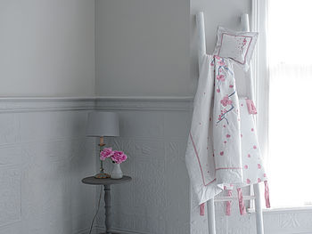 Luxury Organic Cherry Blossom Baby Bedding