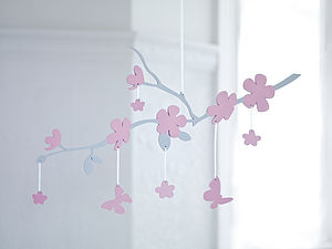 Luxury Cherry Blossom Mobile - decorative accessories