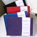 Suede Photograph Message Books in all 4 colours