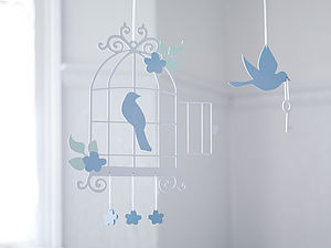 Luxury Bird Cage Mobile - decorative accessories