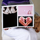 Portrait Handmade Baby Photograph Album Open