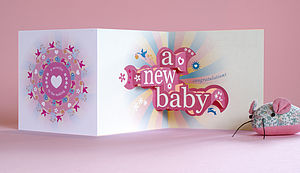 'Nine Months In The Making' 3D Greetings Card - blank cards