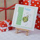 Boy's Age Bug Birthday Card