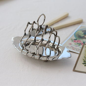Antique Silver Plate Toast Rack