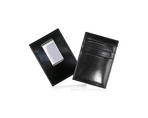 Leather Card Holder With Money Clip - valentine's gifts for him