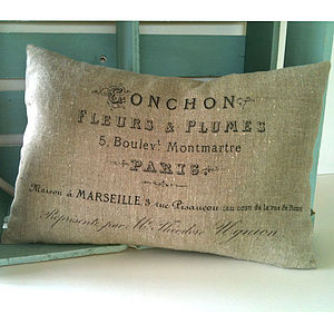 Flowers from Monmatre cushion