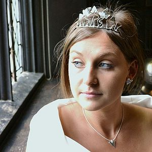 Handmade Silver Ivy Leaf Tiara - wedding jewellery