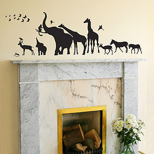 Safari Walk Animal Wall Sticker - wall stickers