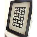 Framed Porcelain Buttons
