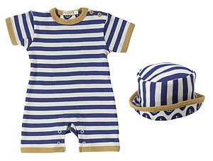 Striped Summer New Baby Romper & Sun Hat - baby care