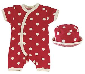 Organic Polka Dot New Baby Romper & Sun Hat - maternity essentials