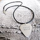 Plectrum on black necklace