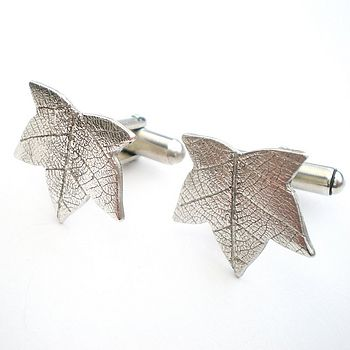 Maple Leaf Silver Cufflinks