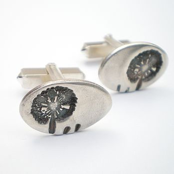 Dandelion Wish Silver Cuff Links