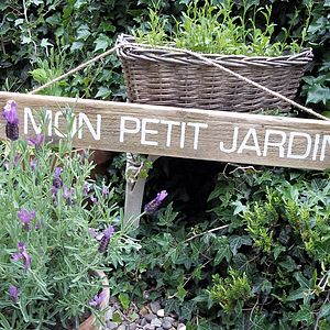 Personalised Wood French Garden Sign - garden accessories