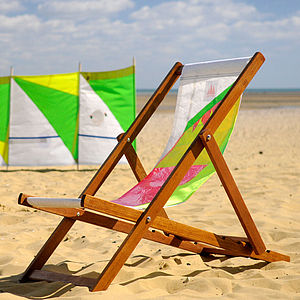 Deckchair With Sailcloth Seat - garden furniture