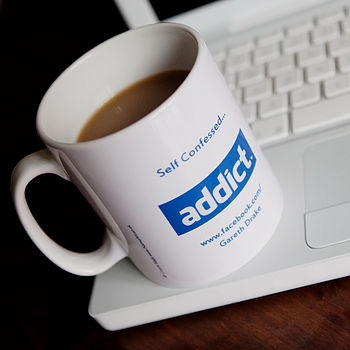Personalised Social Network Addict Mug