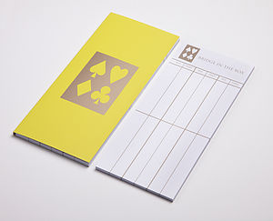 Score Pad: Georgian Yellow