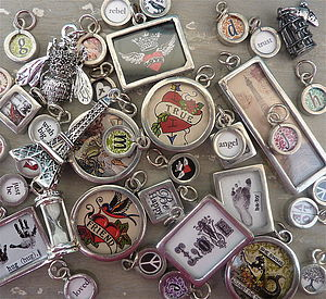 Pewter 'Word Candy' Charms