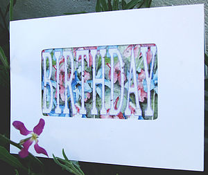 Birthday - Night Scented Stock Seed Card - birthday cards