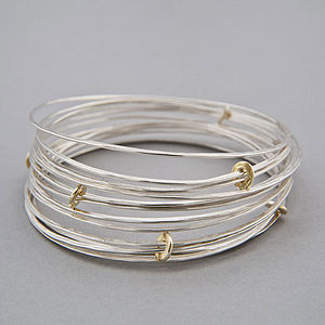 Ripple Sprung Bangle - women's jewellery