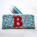 Personalised Boy's Pencil Case - Blue Cars