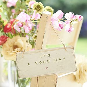 Double Sided 'Good Day, Bad Day' Sign - decorative accessories