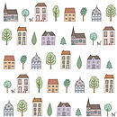 Town Houses Wallpaper