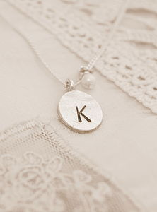 Personalised Initial And Pearl Necklace - necklaces & pendants