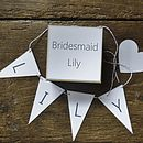 Personalised Bridesmaid Box - Grey