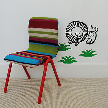 'Otis' Stripe Knit Children's Chair