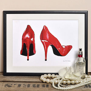 Alice Tait 'Red Shoes' Print