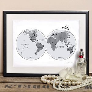 Alice Tait 'World Map' Print - personalised