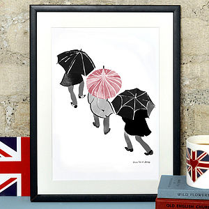 Alice Tait 'Umbrellas' Print