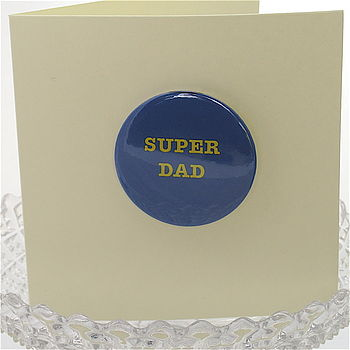Father's Day Badge Or Magnet Card