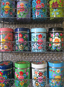 12 Kashmiri Spice Tins - kitchen