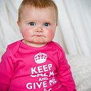 Keep Calm Romper in Hot Pink, modelled by Olivia!!