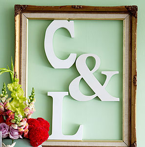 White Wooden Alphabet Letter - outdoor decorations