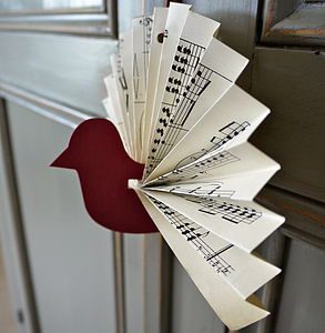 Sheet Music Paper Bird Decoration - decorative accessories