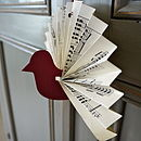 Sheet Music Paper Bird Decoration