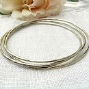 Dappled Silver Bangle